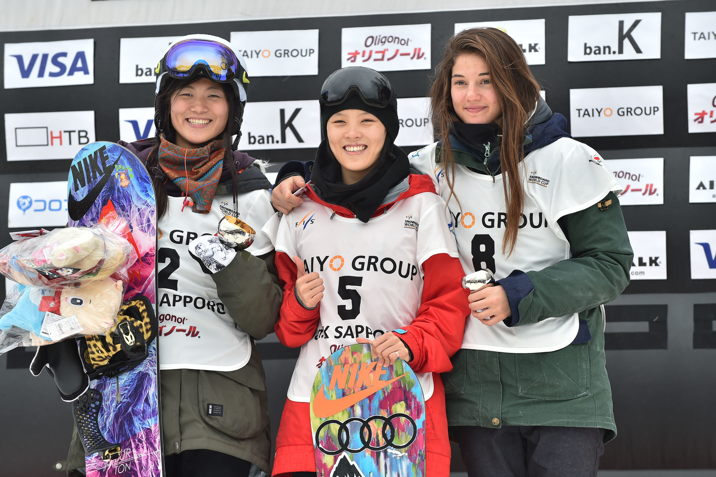 Podio Halfpipe World Cup Sapporo 2016