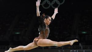Italy's Vanessa Ferrari competes in the women's Individual All-Around final of the Rio 2016 Olympic Games Artistic Gymnastics events at the Rio Olympic Arena in Barra da Tijuca, Rio de Janeiro, Brazil, 11 August 2016. ANSA/ETTORE FERRARI