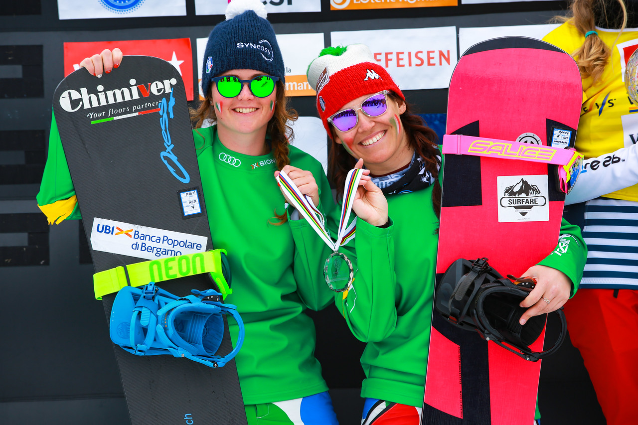 SNOWBOARD TEAM CROSS WORLD CUP SBX 2017 Veysonnaz Ladies Overal 1 2nd ITA 1 3rd
